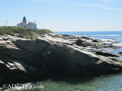 A Lighthouse, Cliffs, a Coffee Shop and a Restaurant: Jamestown, RI