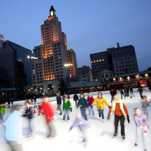 Skating at the Greater Kennedy Plaza