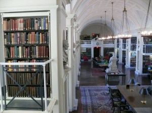 The Boston Athenaeum is one of the famous places in Boston