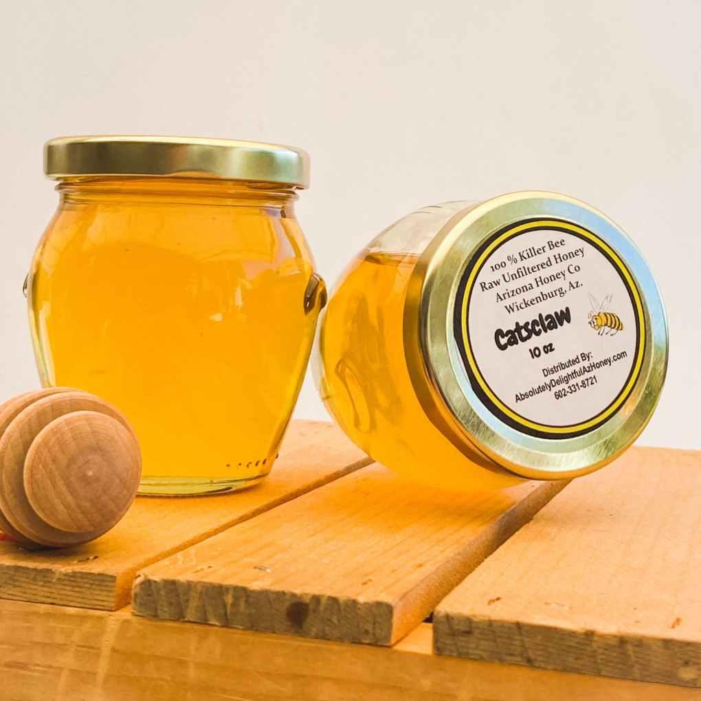 10oz Killer Bee Honey from Wickenburg Arizona -- CatsClaw Pot of Gold Special