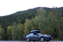 Our ride enjoying the view on our way to Glacier National Park.