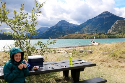 Prince of Wales Hotel on Waterton Lake - our lunch spot scenery.