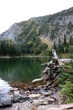 Lower Rowe Lake in Waterton Lakes National Park.