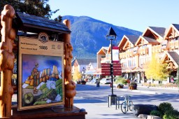 Downtown Banff.