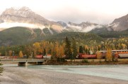 The bridge that leads to the Village of Field, BC on our route through Yoho National Park.