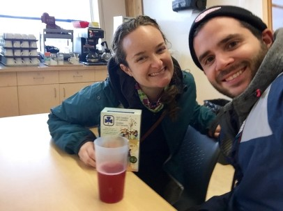 Having forget to pack a lunch on our little roadie around Churchill, we ended up having some delicious Girl Guide Cookies and fruit punch for lunch... I guess that's what you get when you visit the Northern Studies Research Centre outside of the scheduled lunch hour!
