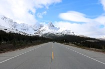 Hilda Peak and Mount Athabasca along the Icefields Parkway.