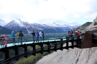 Glacier Skywalk along the Icefields Parkway.