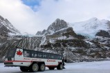The Ice Explorer on the Athabasca Glacier