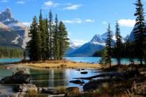 Spirit Island in Jasper National Park.