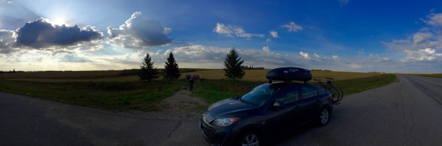 Peaceful scenery in Saskatchewan on our way to Manitoba.