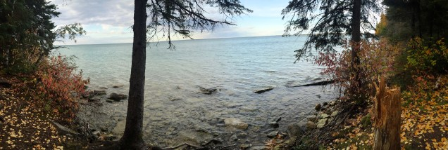 A view of Clearwater Lake on the Caves trail near The Pas, Manitoba.