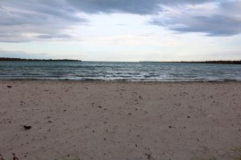 View Clearwater Lake from Sunset Beach in Clearwater Provincial Park in Manitoba.