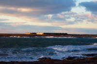 View of the Prince of Wales Fort in the distance from Cape Merry