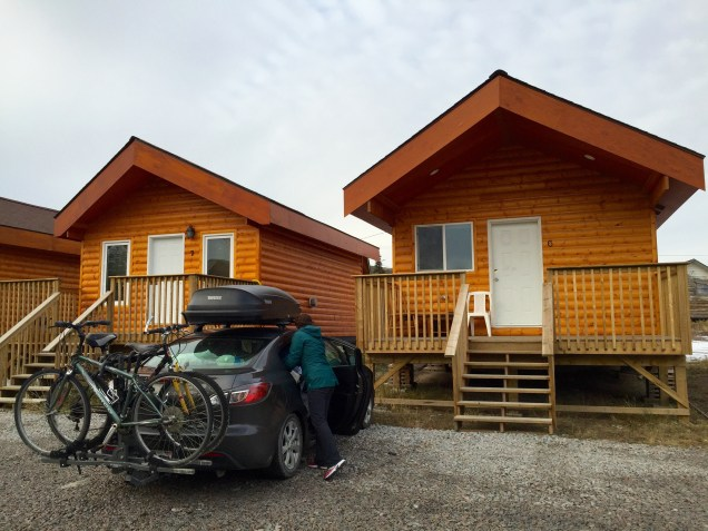 Our temporary Old Town Cabin home in Yellowknife, NT
