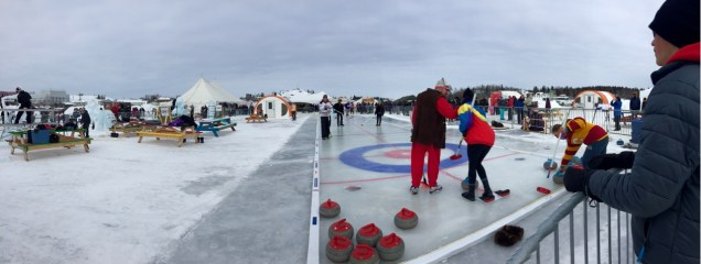 "The Long ""John""spiel curling tournament on Great Slave Lake."