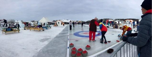 "The Long ""John""spiel curling tournament on Great Slave Lake."
