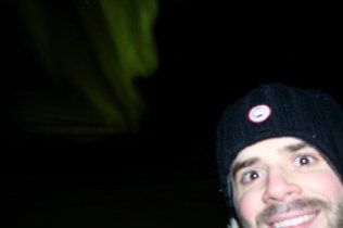 Best selfie: Adam and the aurora!