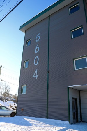 Finally we got siding on our apartment building!
