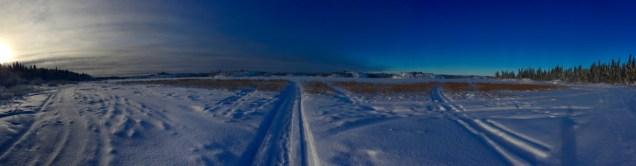 Blue sky over Frame Lake Trail