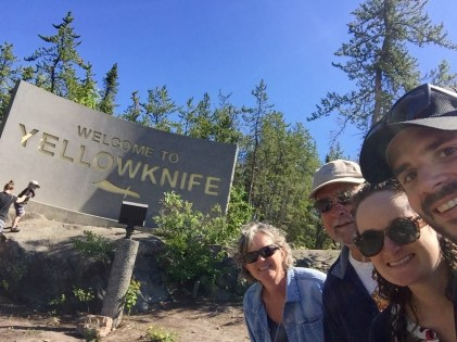 Selfie at the Yellowknife Welcome Sign