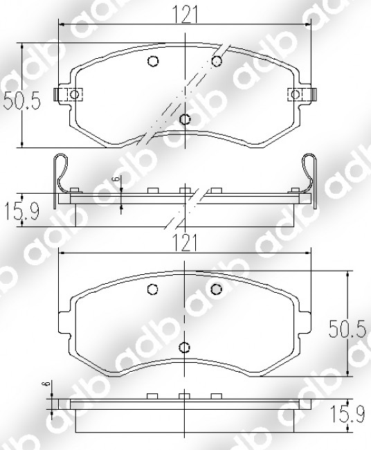 NISSAN Pulsar N14 2.0L 252mm 10/91-95 FRONT Slotted