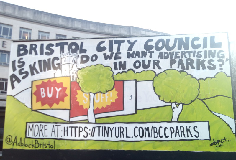 Keep our parks ad-free: over 3,000 sign petition to Bristol City Council