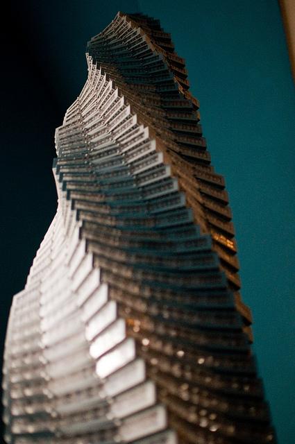 National Building Museum's Towering Ambition pelo arquiteto Adam Reed Tucker. Espiral imponente via Flickr do usuário © 2010 Brian Mosley