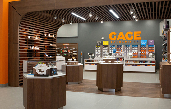 Gage Cannabis Store Interior