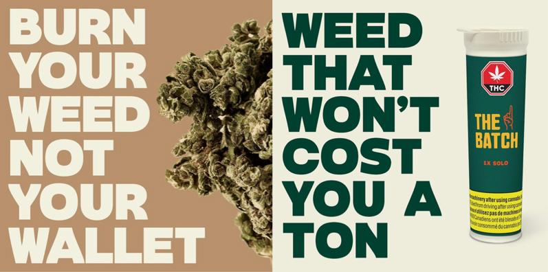 The Batch cannabis ads