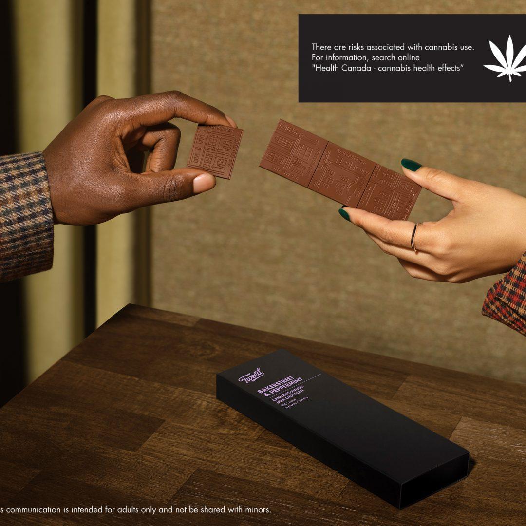 Tweed Cannabis Chocolate Ad
