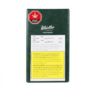 Whistler Cannabis Co Packaging