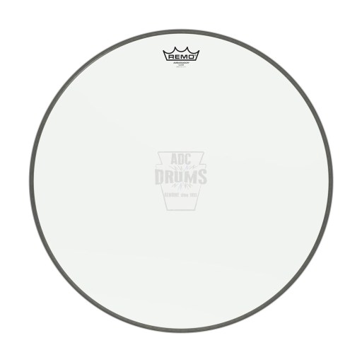 "Remo 22"" Clear Ambassador Bass Drum Head 1"