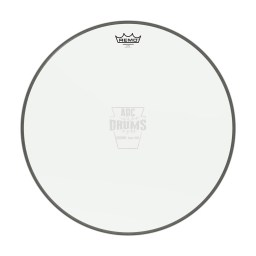 "Remo 24"" Clear Ambassador Bass Drum Head 1"