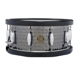 Gretsch Full Range Hammered Black Steel Wood Hoop Snare Drum 4