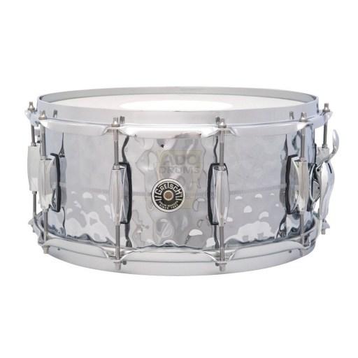 Gretsch Brooklyn Hammered Chrome Over Brass Snare Drum 1