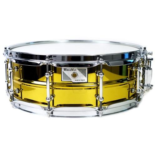 WorldMax-yellow-steel-Snare-Drum