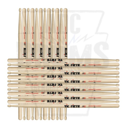 Vic Firth 5A Hickory Wood Tip American Classic Drum Sticks