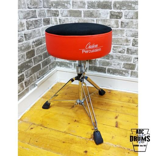 Custom Percussion Deluxe Red Memory Foam Round Top Drum Throne