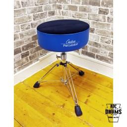 Custom Percussion Deluxe Blue Memory Foam Round Top Drum Throne