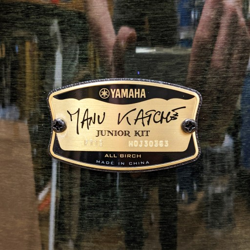 Yamaha Manu Katché Signature Birch Raven Black Bop Kit