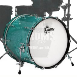 "Gretsch Renown Bass Drum: 18"" x 14"" in Turquoise Premium Sparkle"