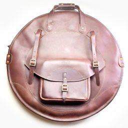 Tackle leather cymbal bag
