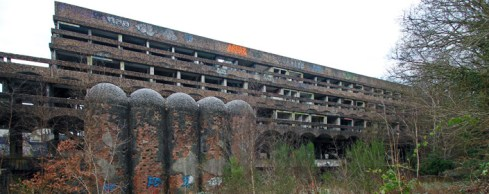 Main building at St Peters Seminary. The silos are side-chapels.