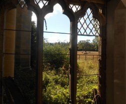 Fife countryside through a priory window