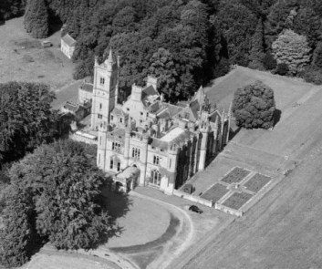 Crawford Priory - note the gothic tower still intact