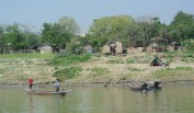 Village on the banks of the Ayeyarwady River