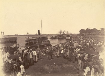 British forces arriving at Mandalay in 1885