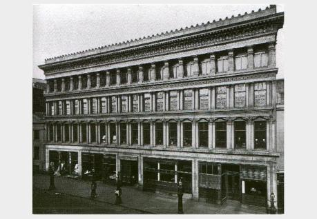 Old image of the Egyptian Halls