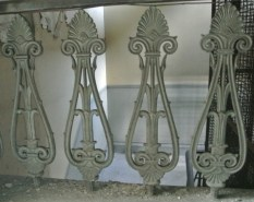 Original banisters in the Egyptian Halls